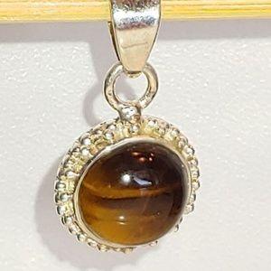 🆕Tiger's Eye 925 Sterling Silver Pendant
